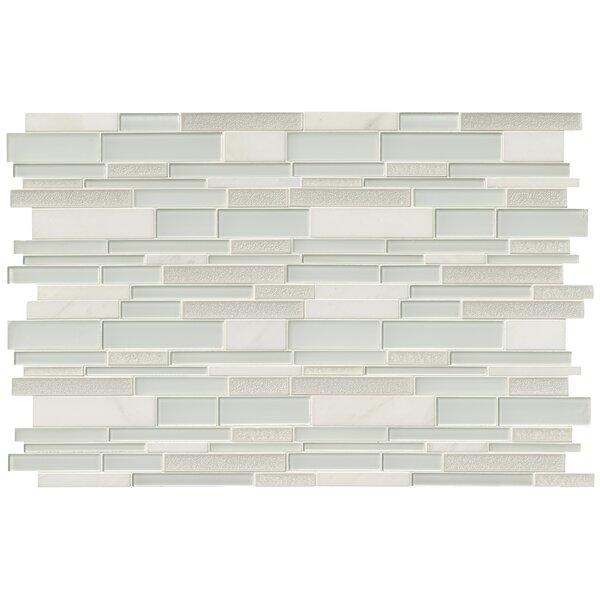 Fantasia Blanco Interlocking Pattern 12 x 18 Mixed Material Mosaic Tile in White by MSI
