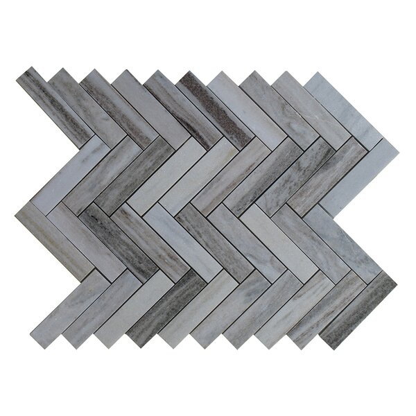 Palissandro 1 x 4 Marble Mosaic Tile in Gray by Seven Seas