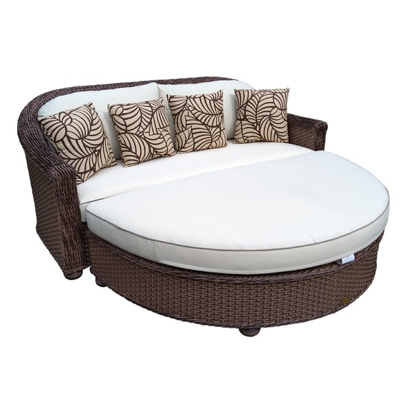 Brokaw Premium Patio Daybed with Cushions by Highland Dunes
