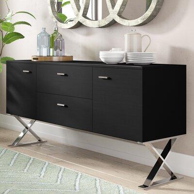 "AllModern 69"" Wide 2 Drawer Buffet Table  Color: Black"