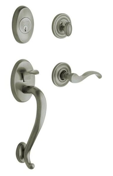 Logan Single Cylinder Handleset with Interior Lever and Sectional Trim by Baldwin