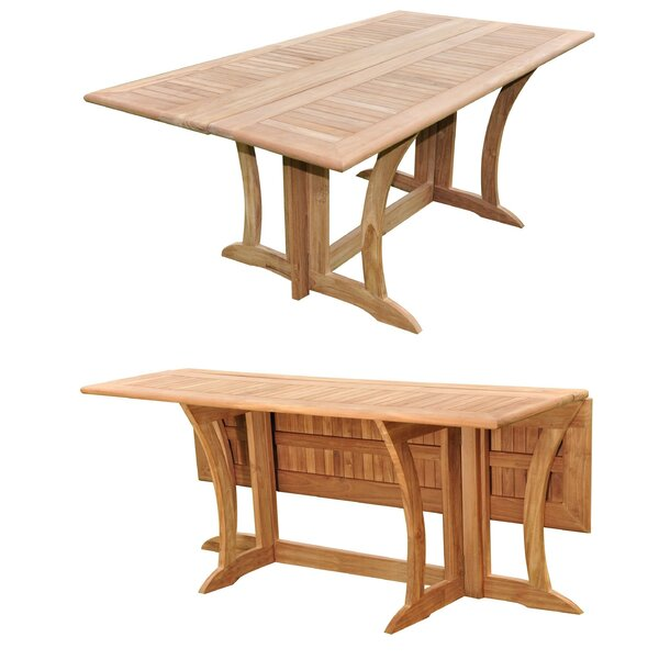 Lenworth Extendable Teak Dining Table by Rosecliff Heights
