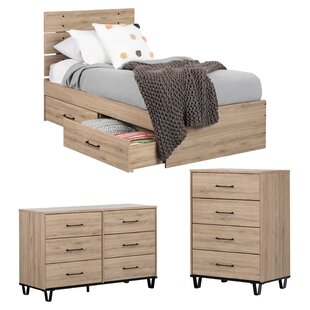 Bon Fakto Industrial Twin Panel Configurable Bedroom Set
