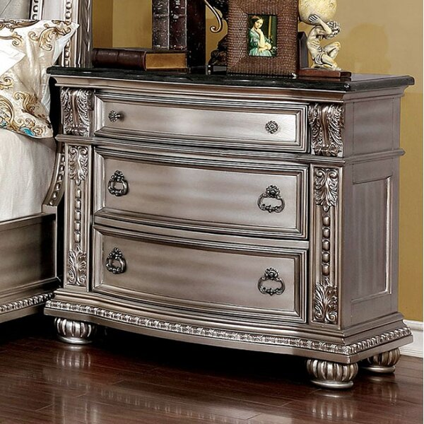 India 3 Drawer Nightstand by Astoria Grand