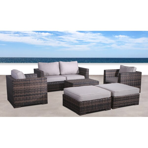 Letona Resort 6 Piece Sofa Seating Group with Cushions by Sol 72 Outdoor