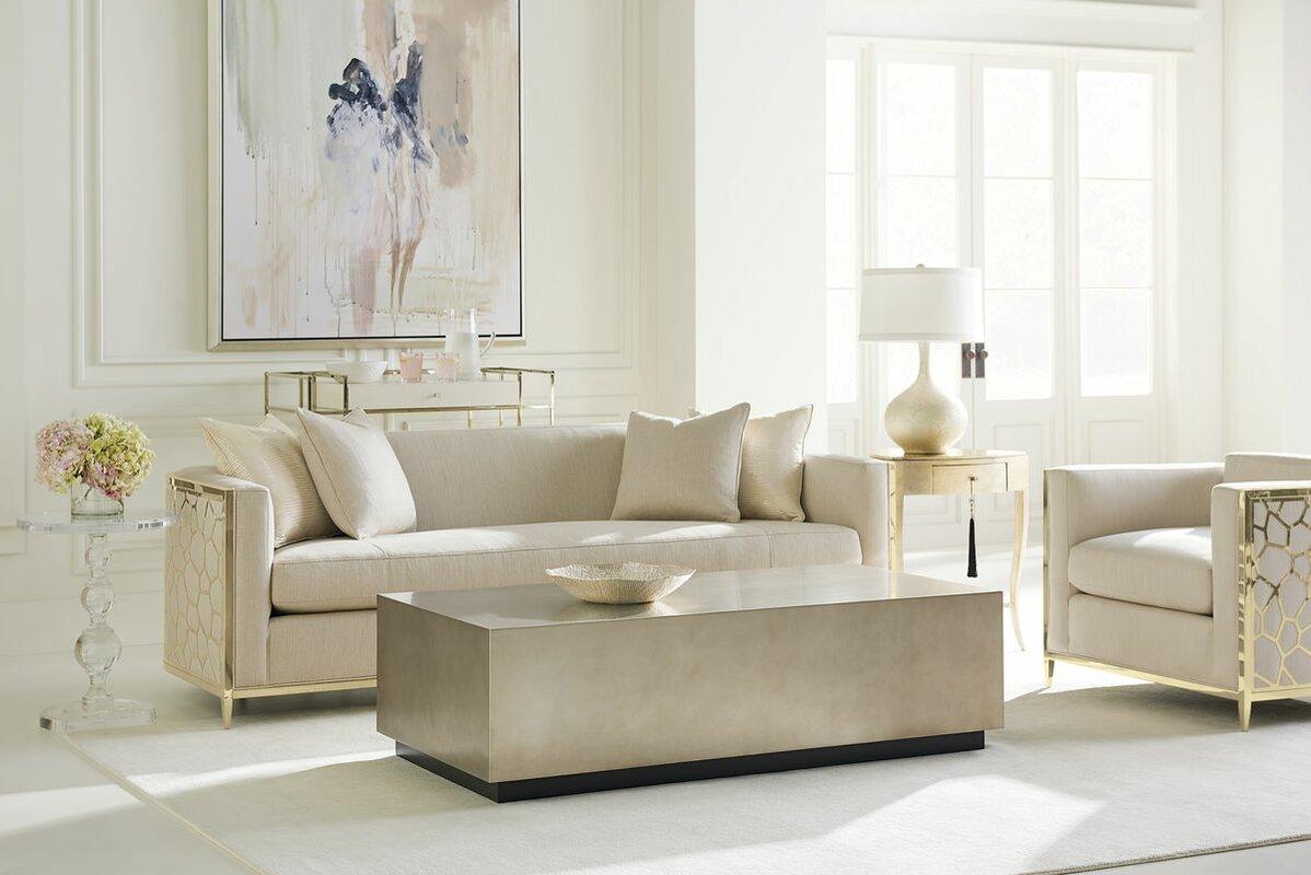 Caracole Classics Metal Wrapped Configurable Living Room Set ...