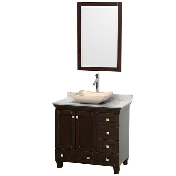 Acclaim 36 Single Espresso Bathroom Vanity Set with Mirror by Wyndham CollectionAcclaim 36 Single Espresso Bathroom Vanity Set with Mirror by Wyndham Collection