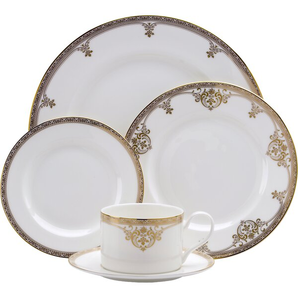 Golden Michelangelo Bone China 5 Piece Place Setting Set, Service for 1 by Oneida