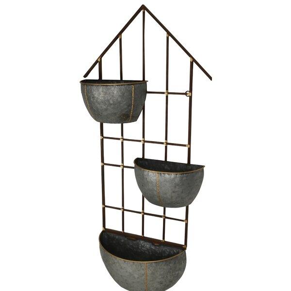 Principato 3 Pot Metal Wall Planter by Gracie Oaks