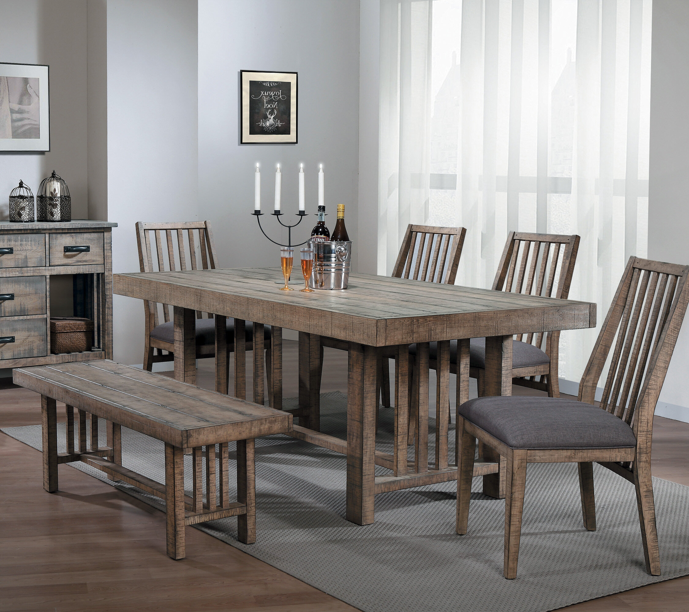 Union Rustic Huang 6 Piece Dining Set