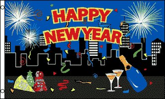 Happy New Year Traditional Flag by Flags Importer