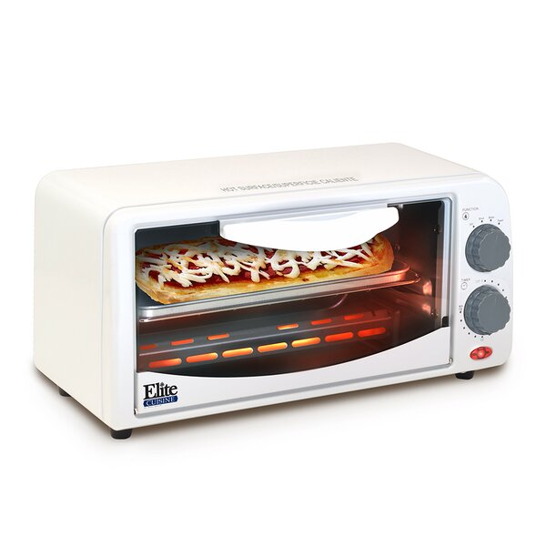 Cuisine 2-Slice Toaster Oven with Broiler and Timer by Elite by Maxi-Matic
