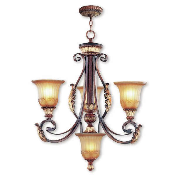 Scottdale 4-Light Shaded Classic / Traditional Chandelier by Astoria Grand Astoria Grand