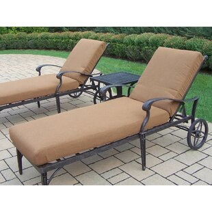 Vandyne Chaise Lounge with Cushions by Darby Home Co