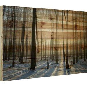 'Papineau' by Parvez Taj Painting Print on Natural Pine Wood by Loon Peak