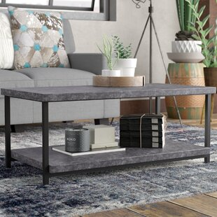 Look for Vlad Slate Faux Concrete Coffee Table By 17 Stories