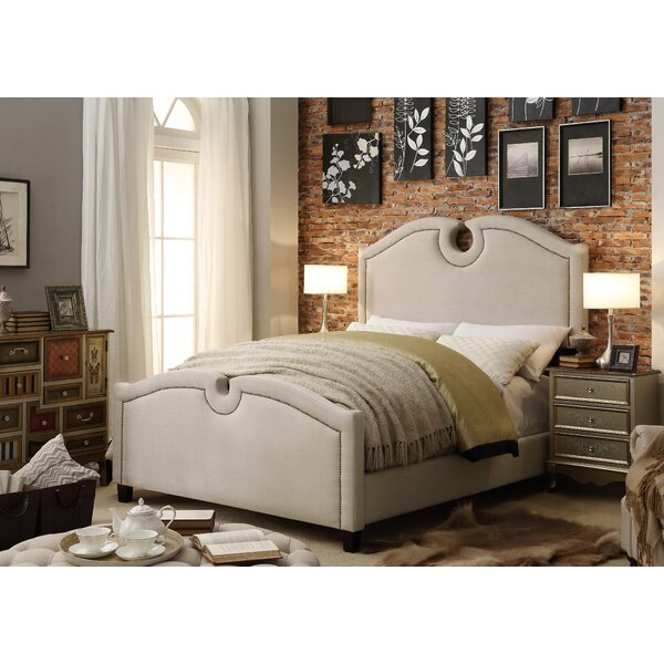 Elio Queen Upholstered Standard Bed by Mulhouse Furniture