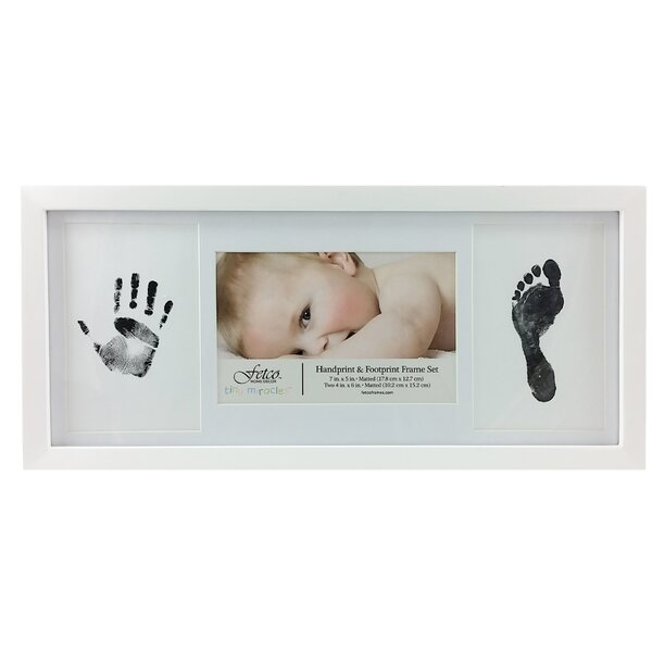 Amari Newborn Hand and Foot Print Picture Frame Set by Fetco Home Decor