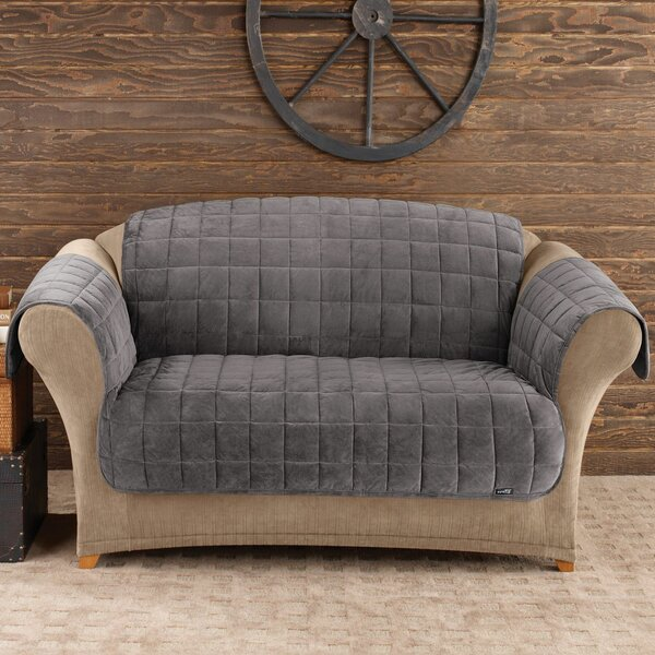 Deluxe Comfort T-Cushion Loveseat Slipcover by Sure Fit