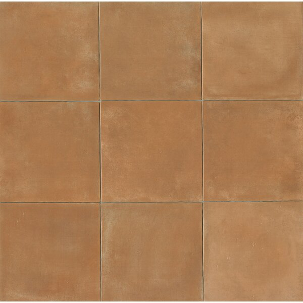 Cotto Nature 14 x 14 Porcelain Leather Look/Field Tile in Sienna by Bedrosians