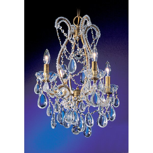 Tivoli 4-Light Candle Style Empire Chandelier By Classic Lighting
