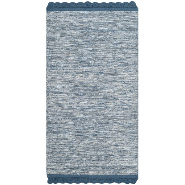 Mohnton Hand-Woven Blue/Gray Area Rug by Gracie Oaks