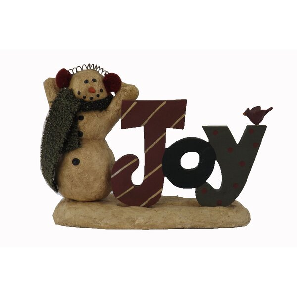 Snowman with Wooden Joy by Craft Outlet