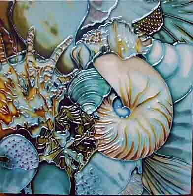 Blue Shells Graphic Art by Continental Art Center