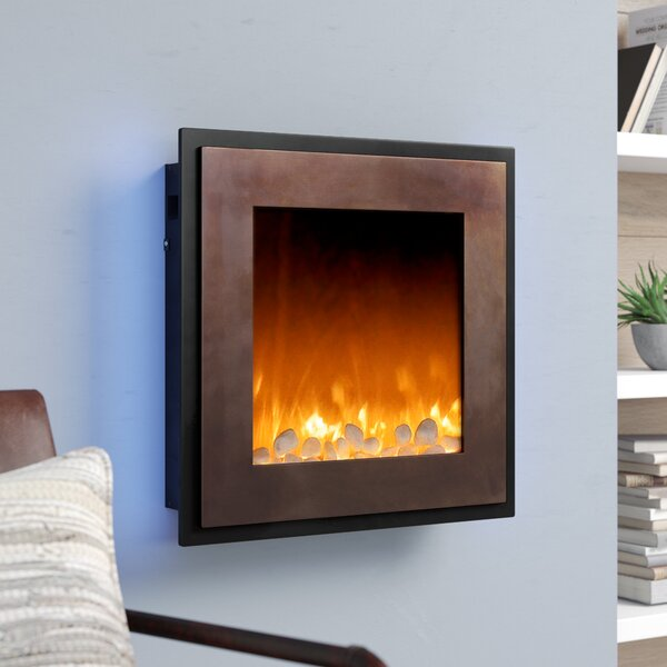 Crites Decorative Wall Mounted Electric Fireplace