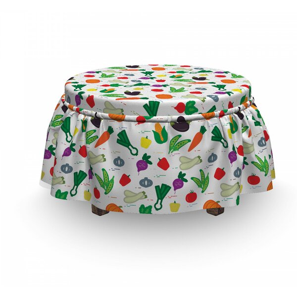Zucchini Peppers Ottoman Slipcover (Set Of 2) By East Urban Home