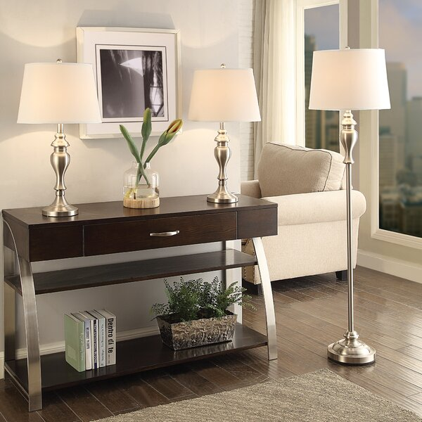 Putterham 3 Piece Table and Floor Lamp Set by Darby Home Co