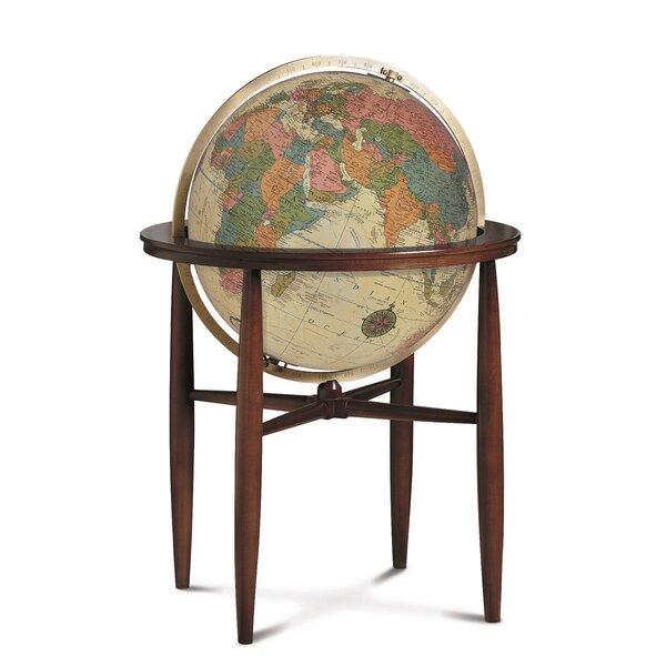 Finley Antique Illuminated World Globe by Replogle