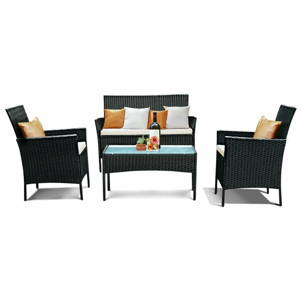 Knuth 4 Piece Sofa Seating Group by Ebern Designs Ebern Designs