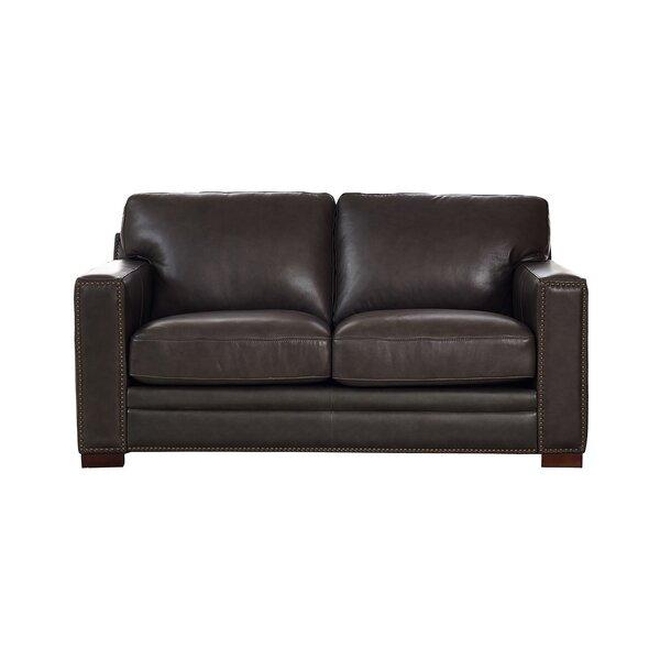 Neil Leather Loveseat By Trent Austin Design