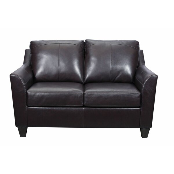 Cyrus Leather Loveseat By Latitude Run