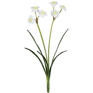 Silk paper white flowers wayfair paper white flower stem set of 2 mightylinksfo