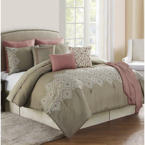 Kiger Rose 10 Piece Comforter Set by Charlton Home