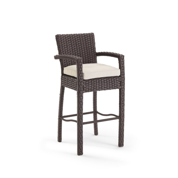Gault 47'' Patio Bar Stool with Cushions by Domus Ventures