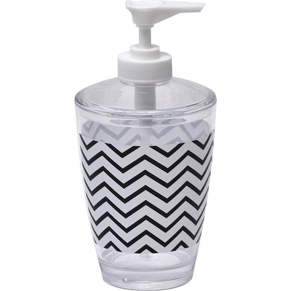 Zigzag Printed Bathroom Lotion Dispenser by Evideco