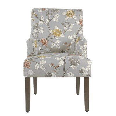 Arrowwood Cotton Upholstered Dining Chair Color: Dove Floral by Alcott Hill