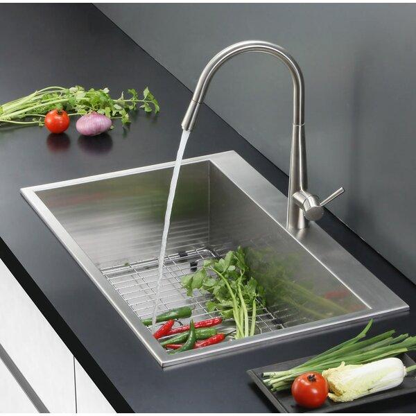 Tirana 25 L x 22 W Drop-In 16 Kitchen Sink by Ruvati