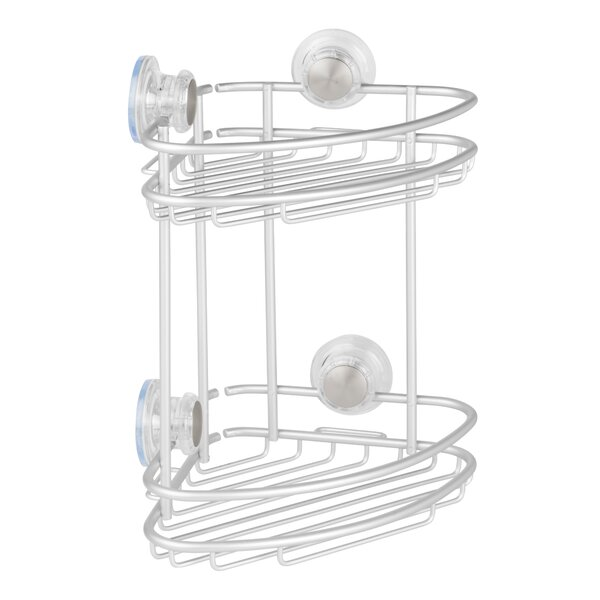 Dumas Aluminum 2 Tier Corner Shower Caddy by Rebrilliant