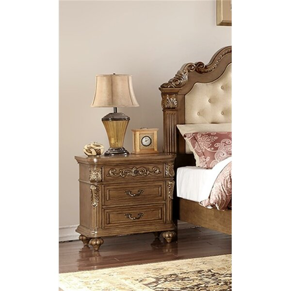 Alarica 3 Drawer Nightstand by Astoria Grand