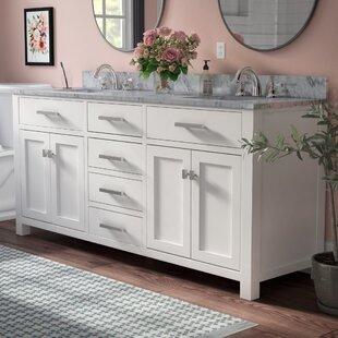 Buy clear Raven 60 Double Bathroom Vanity Set ByAndover Mills