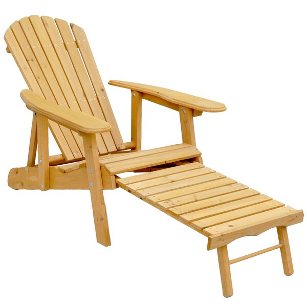 Wood Adirondack Chair by Leisure Season
