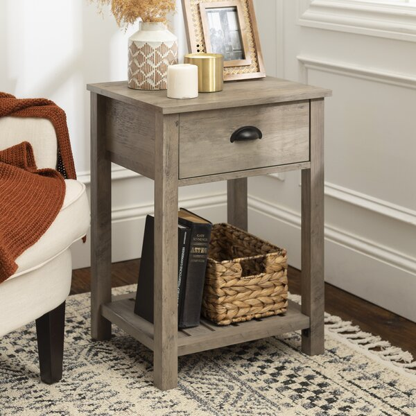Kasey 1 Drawer End Table With Storage By Laurel Foundry Modern Farmhouse