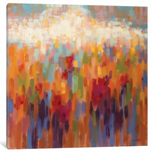 Poppy Mosaic Painting on Wrapped Canvas by East Urban Home