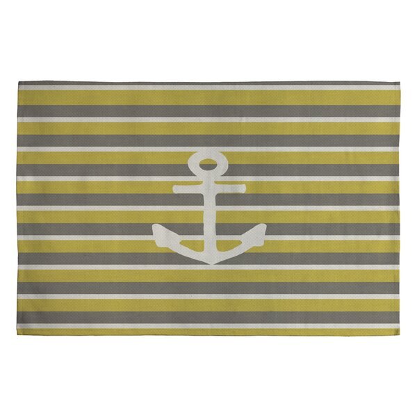 Bianca Green Anchor 2 Novelty Area Rug by Deny Designs