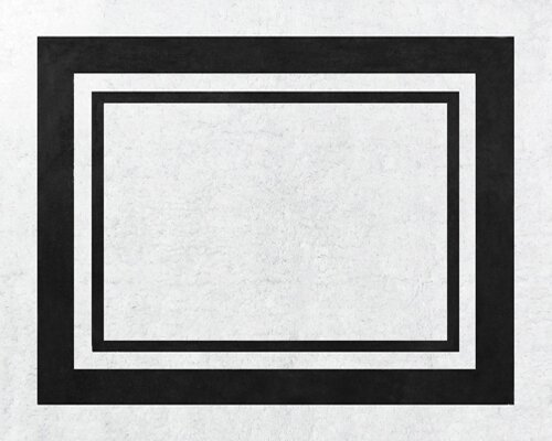Hotel Hand-Tufted Cotton White/Black Area Rug by Sweet Jojo Designs