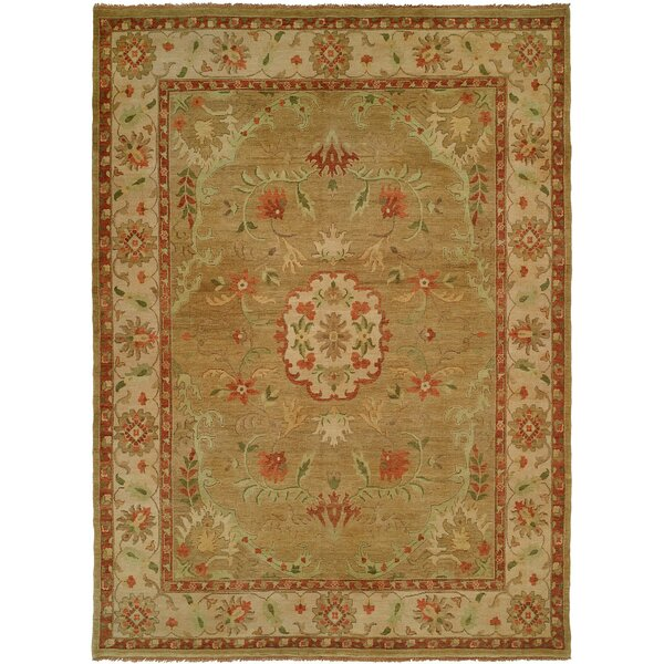Dumka Hand-Knotted Earth Tones Area Rug by Meridian Rugmakers